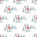 Endless pattern Christmas theme. Stock Photos