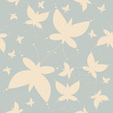 Endless pattern with cute butterflies silhouettes Royalty Free Stock Photo