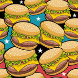 Endless pattern with fast food. Royalty Free Stock Photos