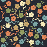Endless pattern with flowers and leaves Stock Photography