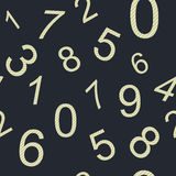 Endless pattern numbers. For design wallpaer for boys, wrapping paper etc Royalty Free Stock Photo
