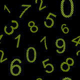 Endless pattern numbers with stripes Stock Photo