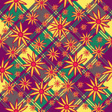 Endless pattern of orange flowers on a square background Royalty Free Stock Photo
