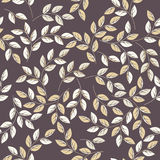 Endless pattern with stylish leaves on purple background. Can be used for wallpaper, linen, tile, design fabric and more creative designs Royalty Free Stock Image