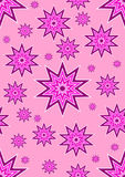 Endless pink stars royalty free stock photo