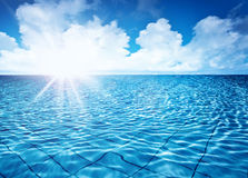 Endless pool Royalty Free Stock Images