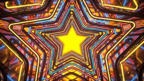 Portal with colorful glowing disco style stars 3D rendering stock photography