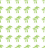 Endless Print Texture with Tropical Palm Trees Stock Image