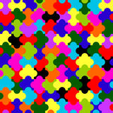 Endless puzzle pattern texture Royalty Free Stock Photography