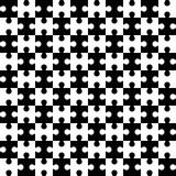 Endless puzzle. Seamless vector pattern. Alternate black and whi Royalty Free Stock Image