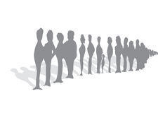 Endless queue of people Stock Image