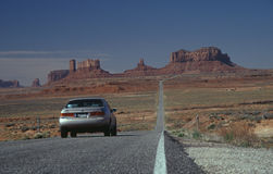 Endless Road 1. Highway to the Monument Valley Royalty Free Stock Photos