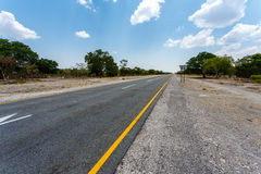 Endless road with blue sky Royalty Free Stock Photography