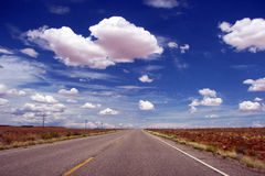 Endless road in California Royalty Free Stock Photos