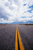 Endless road near highway 395 Royalty Free Stock Images