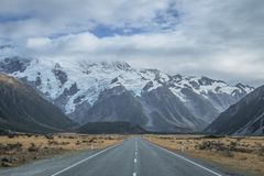 Endless Road in New Zealand stock photo