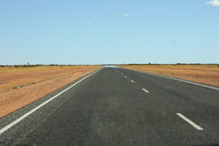 Endless road in Northern Territory Stock Photography