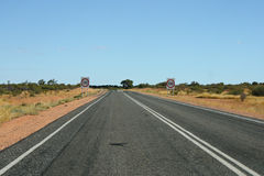Endless road in Northern Territory Royalty Free Stock Photos