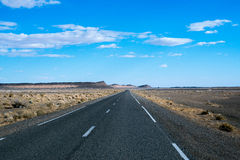 Endless road in Sahara Desert, Africa.  Royalty Free Stock Photos