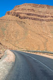 Endless road in Sahara Desert with blue sky,Morocco Africa Stock Photography