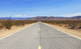 Endless road in south-west America Royalty Free Stock Images