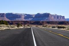 Endless road in Utah, canyon lands nation park Stock Image