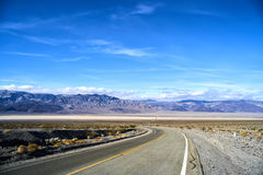 Endless road in Utah, winter Royalty Free Stock Images