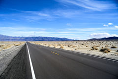 Endless road in Utah, winter Stock Photography