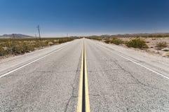 Endless roads in Arizona desert, USA Stock Photo