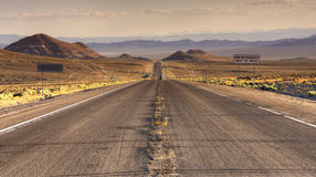 Endless roads in Arizona desert, USA Stock Image
