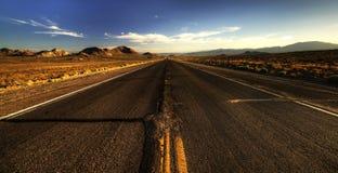 Endless roads in Arizona desert, USA Stock Photos