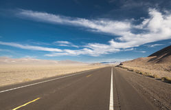 Endless roads in Arizona desert, USA Royalty Free Stock Image