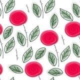Endless rose pattern Royalty Free Stock Photos