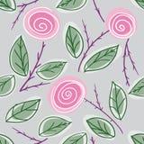 Endless rose pattern Royalty Free Stock Photo