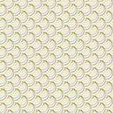 Endless round pattern. Based on Traditional Japanese Embroidery. Stock Photo