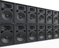 Endless rows of loudspeakers Royalty Free Stock Photography