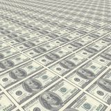 Endless rows of money Royalty Free Stock Photo