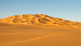 Endless Sand Sea in the Sahara Desert Royalty Free Stock Photography