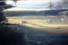 The endless sea of clouds Royalty Free Stock Images