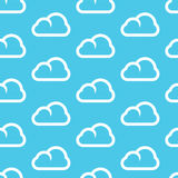 Endless seamless pattern with cute stylized clouds Royalty Free Stock Images