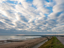 Endless Skies. At Aberdeen beach front. still waters, calm day Royalty Free Stock Photo