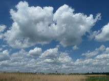 Endless sky on the puszta steppe Stock Image