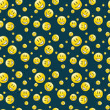 Endless smilies pattern Royalty Free Stock Image