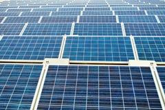 Endless solar panels Stock Image