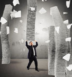 Endless stacks of sheets Stock Images