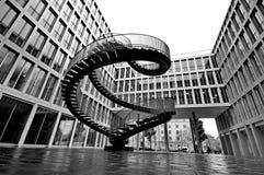Endless steel stairway in Munich Royalty Free Stock Image