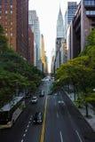 Endless streets of Manhattan New York skyscraper cars. Endless streets of Manhattan New York skyscrapers Stock Photo