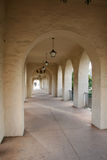 Endless Stucco Archways Stock Images