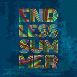 Endless Summer. Artwork for wear in custom colors Royalty Free Stock Photo