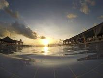 Endless Swimming Pool at Dawn Royalty Free Stock Images